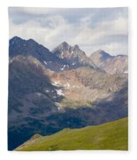 Alpine Tundra And The Colorado Continental Divide Fleece Blanket