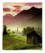 Alpine Village Fleece Blanket
