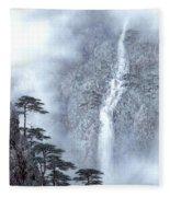 Alpine Waterfall Fleece Blanket