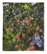 Alpine Wildflowers Hurricane Ridge 4031 Fleece Blanket