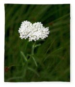 Alpine Yarrow Wildflower 1 Fleece Blanket