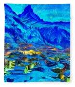 Alps Of Switzerland - Pa Fleece Blanket