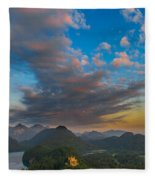 Alpsee Lake Fleece Blanket
