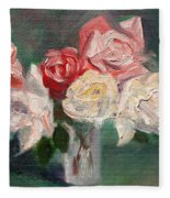 Altadena Roses Fleece Blanket
