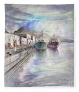 Altea Harbour On The Costa Blanca 01 Fleece Blanket