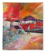 Altea Harbour Spain Fleece Blanket