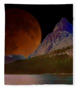 Alternate Universe Glacier Park Fleece Blanket