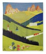 Alto Adige South Tyrol Fleece Blanket