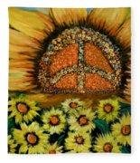 Always Face The Sun Fleece Blanket