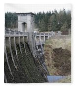 Alwen Reservoir Dam Fleece Blanket