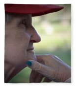 Alzheimer's The Aging Of A Lady Fleece Blanket