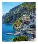 Amalfi Coast, Positano, Italy Fleece Blanket