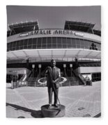 Amalie Arena Black And White Fleece Blanket