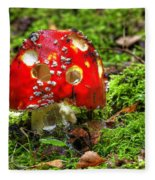 Amanita Muscaria Fleece Blanket