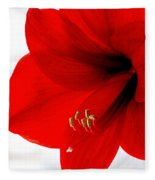Amaryllis Square Fleece Blanket