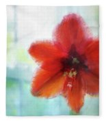 Amaryllis Window Fleece Blanket