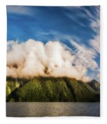 Amazing Cloud Formation At Lake Manapouri In New Zealand Fleece Blanket