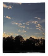 Amazing Clouds Before Sunset Fleece Blanket