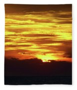 Amazing Fire In The Sky Fleece Blanket