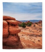 Amazing Rock Formations At Kodachrome Basin State Park, Usa. Fleece Blanket