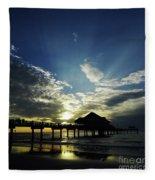 Amazing Sky Pier 60 Fleece Blanket
