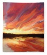 Amazing Sunset Fleece Blanket