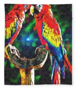 Amazon Parrotts Fleece Blanket