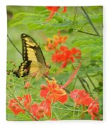 Amazonia Butterfly Fleece Blanket