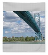 Ambassador Bridge - Windsor Approach Fleece Blanket