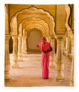 Amber Fort Temple Fleece Blanket