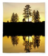 Amber Sunset Fleece Blanket