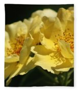 Amber Yellow Country Rose Fleece Blanket