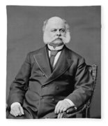 Ambrose Burnside And His Sideburns Fleece Blanket