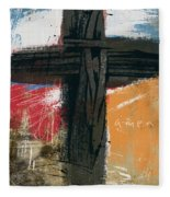 Amen Contemporary Cross- Art By Linda Woods Fleece Blanket
