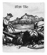 America: Farming, C1870 Fleece Blanket