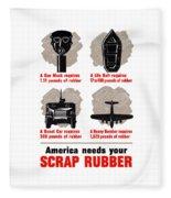 America Needs Your Scrap Rubber Fleece Blanket