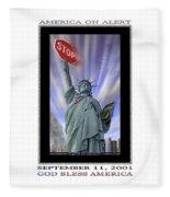 America On Alert II Fleece Blanket
