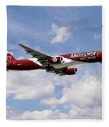 America West Boeing 757 Arizona Cardinals Fleece Blanket