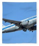 American Airbus A319-0112 N744p Retro Piedmont Pacemaker Phoenix Sky Harbor January 21 2016 Fleece Blanket