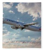 American Airlines A321-231 N917uy Fleece Blanket