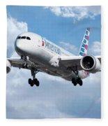 American Airlines Boeing 787 Dreamliner Fleece Blanket