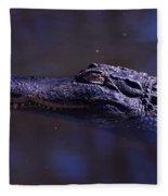 American Alligator Sleeping Fleece Blanket
