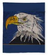 American Bald Eagle Fine Art Batik Fleece Blanket