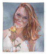 American Beauty Fleece Blanket