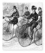 American Bicyclists, 1879 Fleece Blanket