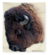 American Bison Fleece Blanket