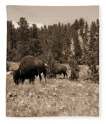 American Bison Vintage Fleece Blanket