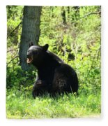 American Black Bear Fleece Blanket