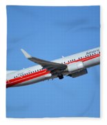 American Boeing 737-823 N915nn Retro Twa Phoenix Sky Harbor January 12 2015 Fleece Blanket