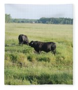 American Cattle Fleece Blanket